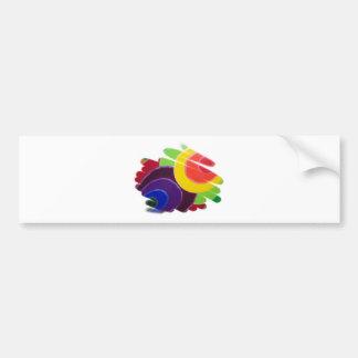 Bumper Sticker Tropic Colors Car Bumper Sticker