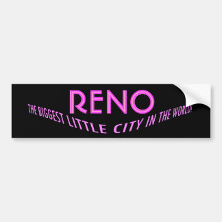Bumper Sticker Visual Fun Reno Nevada Promote