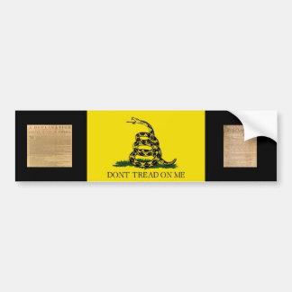 Bumper Sticker w/ Gadsden Flag-Dont Tread On Me