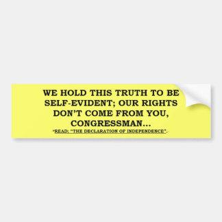 Bumper Sticker w/ We Hold This /Congressman