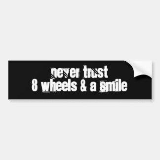 Bumper Sticker: Wheels Car Bumper Sticker