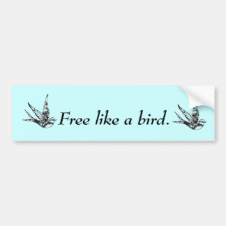 Bumper Sticker With A Swallow