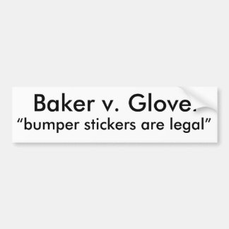 Bumper Stickers legal