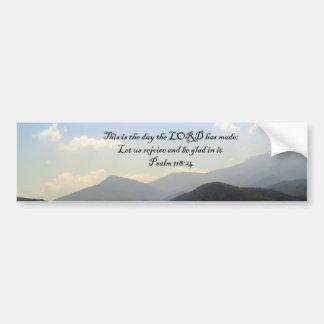Bumper Stickers: Mountain Scenery with Psalm Bumper Sticker