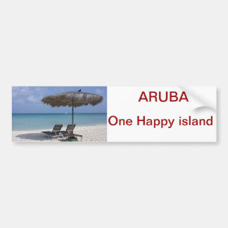 bumpersticker aruba bumper sticker