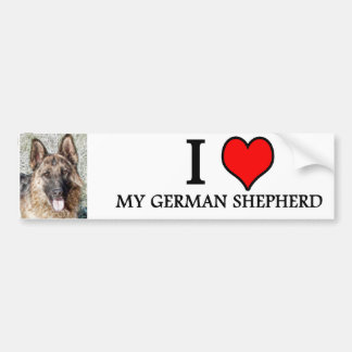 bumpersticker GERMAN SHEPHERD Bumper Sticker