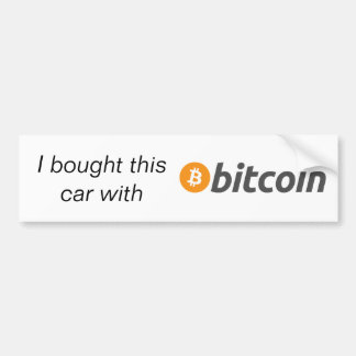 Bumpersticker - I Bought This Car With Bitcoin Bumper Sticker