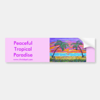 Bumpersticker -Peaceful Tropical Paradise Bumper Sticker