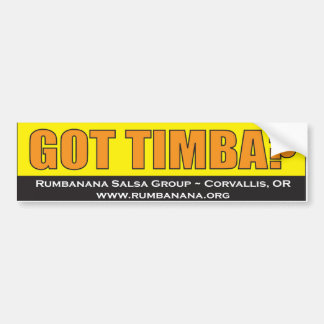 bumpersticker-Timba Bumper Sticker