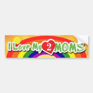 BUMPERSTICKERS - Luv 2 Moms Bumper Sticker