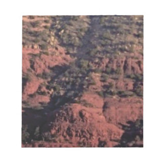 bumps and lumps in red rock notepad