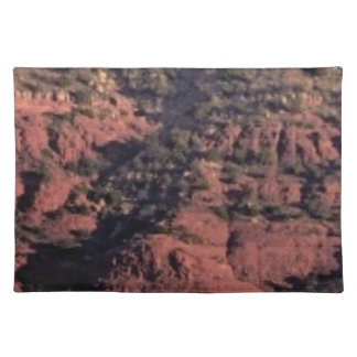 bumps and lumps in red rock placemat
