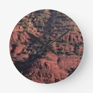 bumps and lumps in red rock round clock