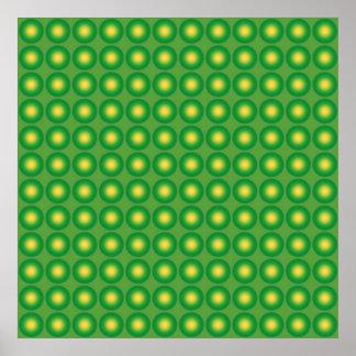 Bumpy green pattern poster