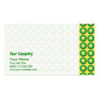 Bumpy yellow green texture pack of standard business cards