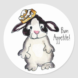Bun Appetite- Cartoon Rabbit Sticker