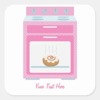 Bun In Oven (pink customizable) Square Sticker