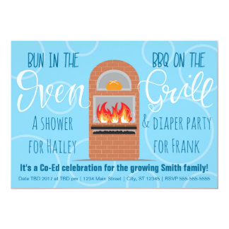 Bun in the Oven/BBQ on the Grill Co-ed Party Card
