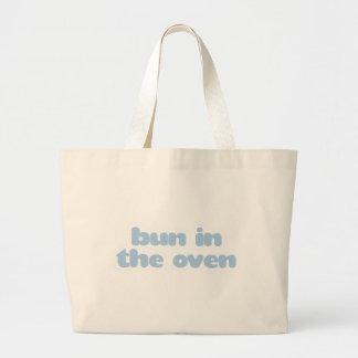 Bun In the Oven - blue Jumbo Tote Bag