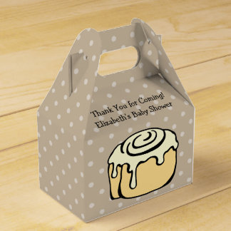 Bun in the Oven Cinnamon Roll Baby Shower Cute Favour Box