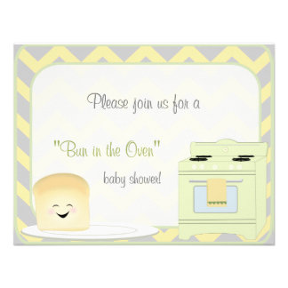Bun in the Oven Gender Neutral Invitation