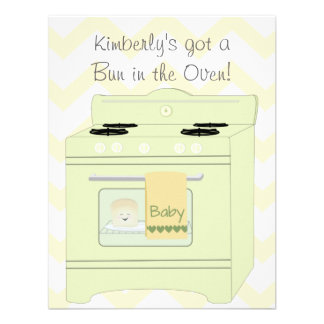 Bun in the Oven Gender Neutral Personalised Invite