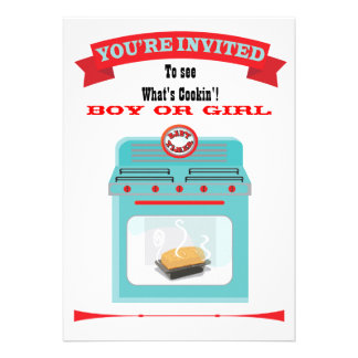 Bun in the oven Gender Reveal Baby Shower Invite