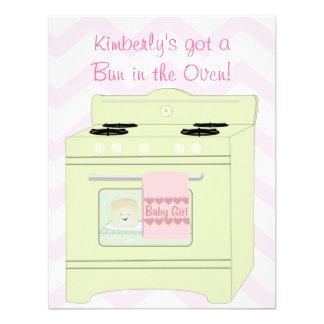 Bun in the Oven Girl Custom Announcement
