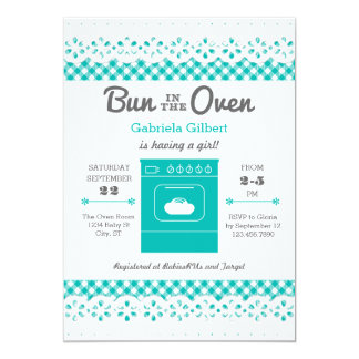 Bun In The Oven Unisex Baby Shower Invitation