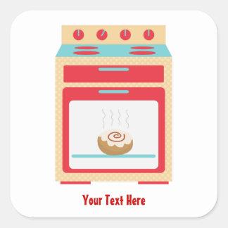 Bun Oven (customizable maternity) Square Sticker