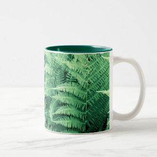 Bunch fern, bunch fern, Ostrich far Two-Tone Coffee Mug