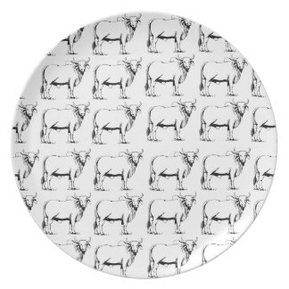 bunch of bad bulls plate