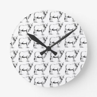 bunch of bad bulls round clock