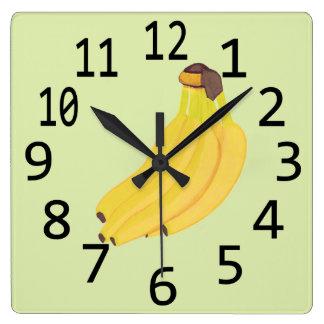 Bunch of Bananas Painting Wall Clocks