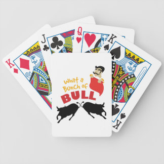 Bunch Of Bull Bicycle Playing Cards