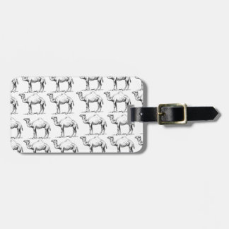bunch of camels herd luggage tag