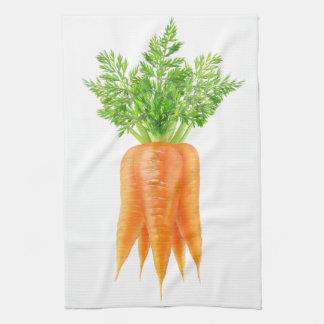 Bunch of carrots tea towel