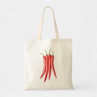Bunch of chili peppers tote bag