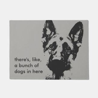 Bunch of German Shepherd Dogs Doormat