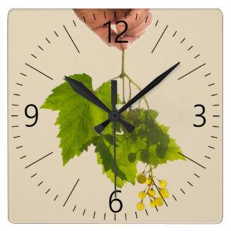 Bunch of grape square wall clock