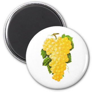 Bunch of Grapes 6 Cm Round Magnet