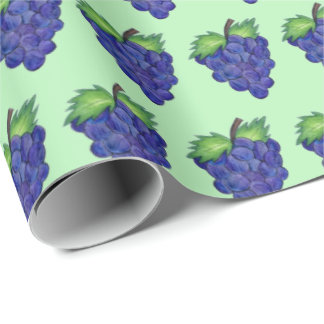Bunch of Grapes Green Purple Fruit Foodie Wrapping Paper