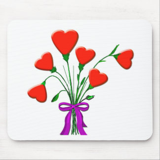 Bunch of Hearts Mouse Pad