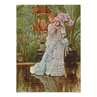 Bunch of Lilacs c1875 14 Cm X 19 Cm Invitation Card