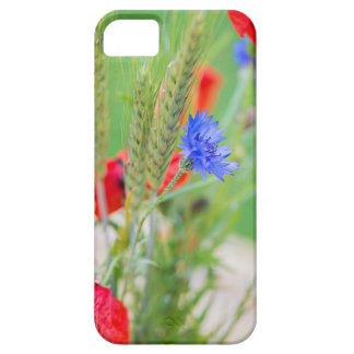 Bunch of of red poppies, cornflowers and ears iPhone 5 cover