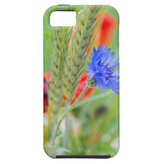 Bunch of of red poppies, cornflowers and ears tough iPhone 5 case
