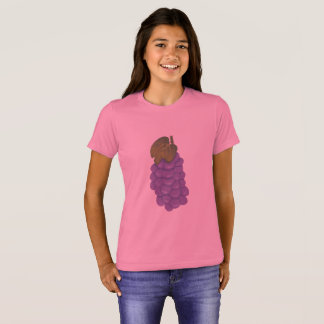 Bunch of Purple Grapes with Green Leaf Tee Shirts