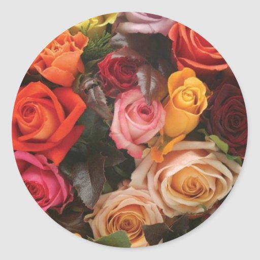Bunch Of Roses Round Sticker