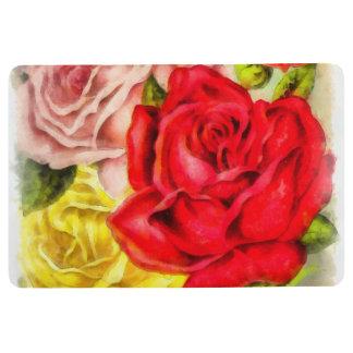 Bunch Of Roses Watercolor Floor Mat