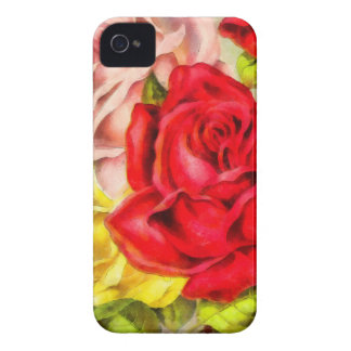 Bunch Of Roses Watercolor iPhone 4 Cover